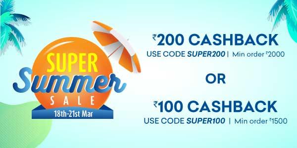 Super Summer Sale | 18 -21 March